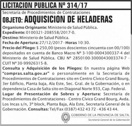 Licitación: Licitacion Publica 314 SGG MSP 2x7 ND (1)