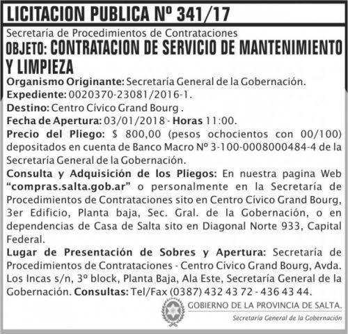 Licitación: Licitación Pública Nº 341