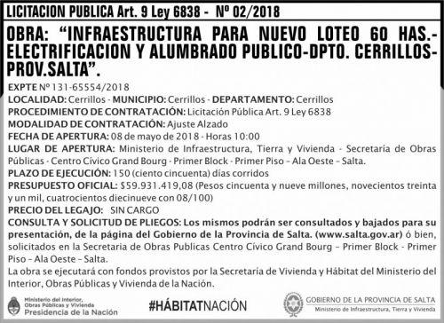 Licitación: Licitacion Publica Nº 02