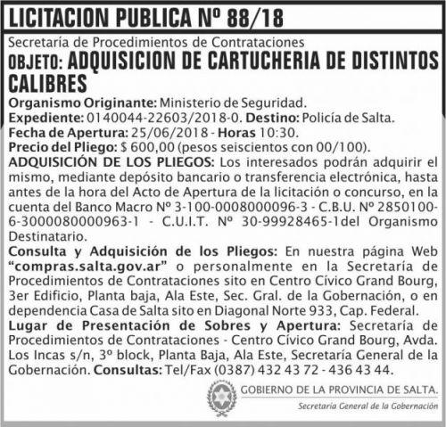 Licitación: Licitacion Publica 88