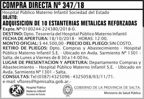 Compra Directa: Compra Directa 347 MSP HPMI