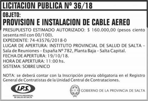 Licitación: Licitacion Publica 36 IPS