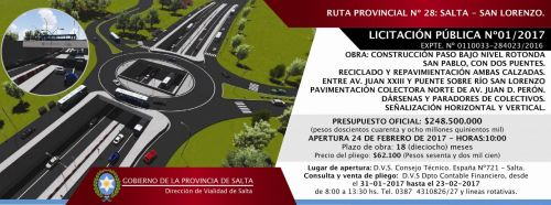 Licitación: Licitación Pública Nº 01/2017