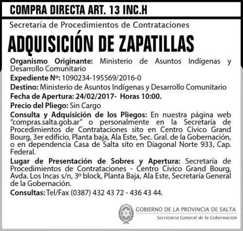Compra Directa: Compra Directa Art. 13 Inc. H
