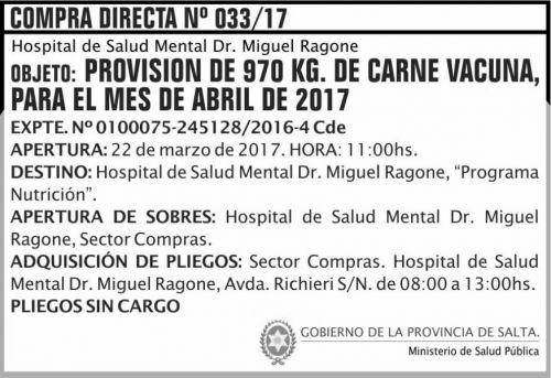 Compra Directa: Compra Directa 33 MSP Ragone