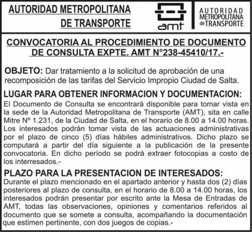Edictos / Comunicados: AMT - CONVOCATORIA