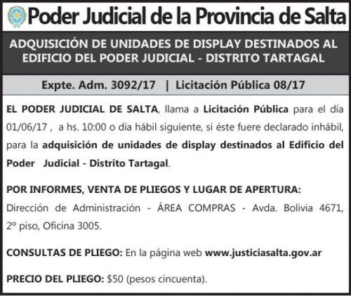 Licitación: Licitación Pública Nº 08/17