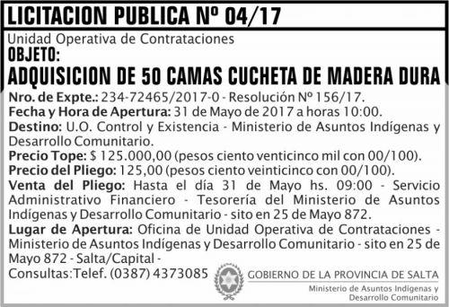 Licitación: Licitacion Publica 04 MAIDC