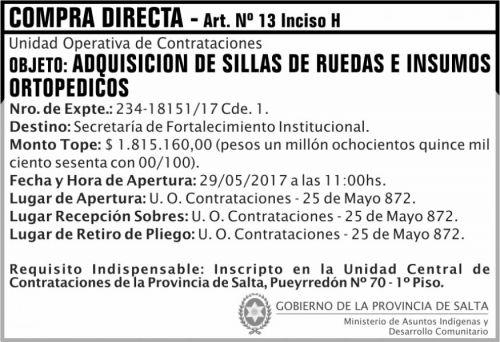 Compra Directa: Compra Directa SILLAS DE RUEDA MAIDC