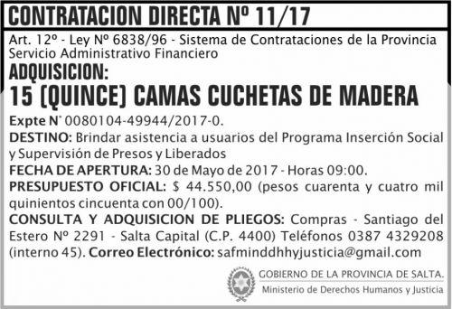 Compra Directa: Contratacion Directa 11 MDHJ