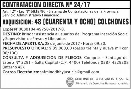 Compra Directa: Contratacion Directa 24 MDHJ