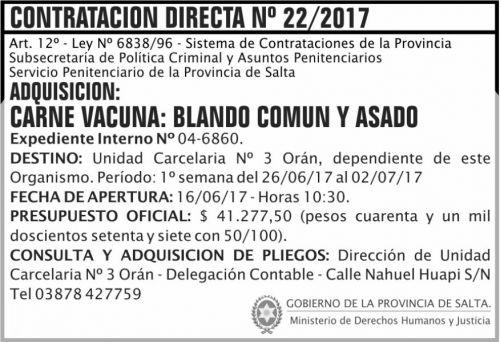 Compra Directa: Contratacion Directa 22 SPPS MDHJ