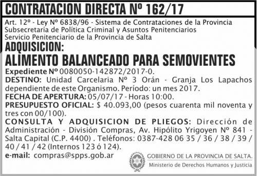 Compra Directa: Contratacion Directa 162 SPPS MDHJ