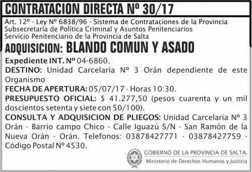 Compra Directa: Contratacion Directa 30 SPPS MDHJ