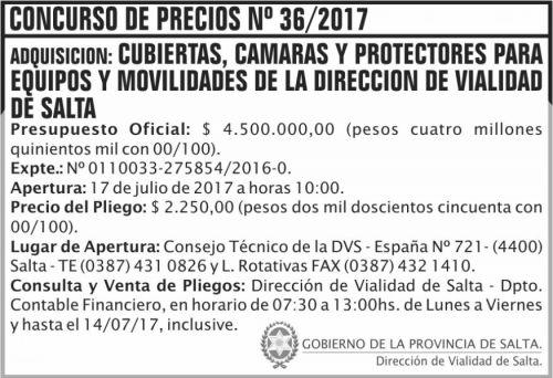 Concurso de Precios: Concurso de Precios 36 DVS
