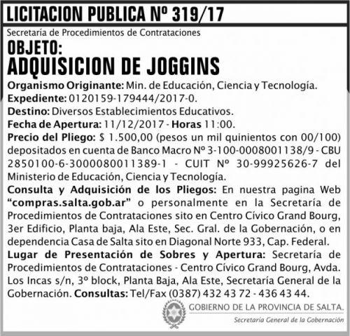 Licitación: Licitacion Publica 319 SGG MECT