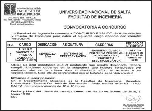 Licitación: Facultad de Ingenieria