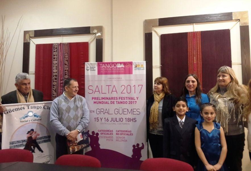 """La competencia local """"Viví Tango – Salta 2017"""" de preselección al mundial, se realizará en General Güemes el 15 y 16 de julio."""