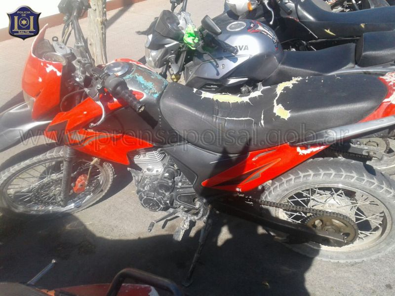 Las motocicletas habían sido denunciadas por sus propietarios.