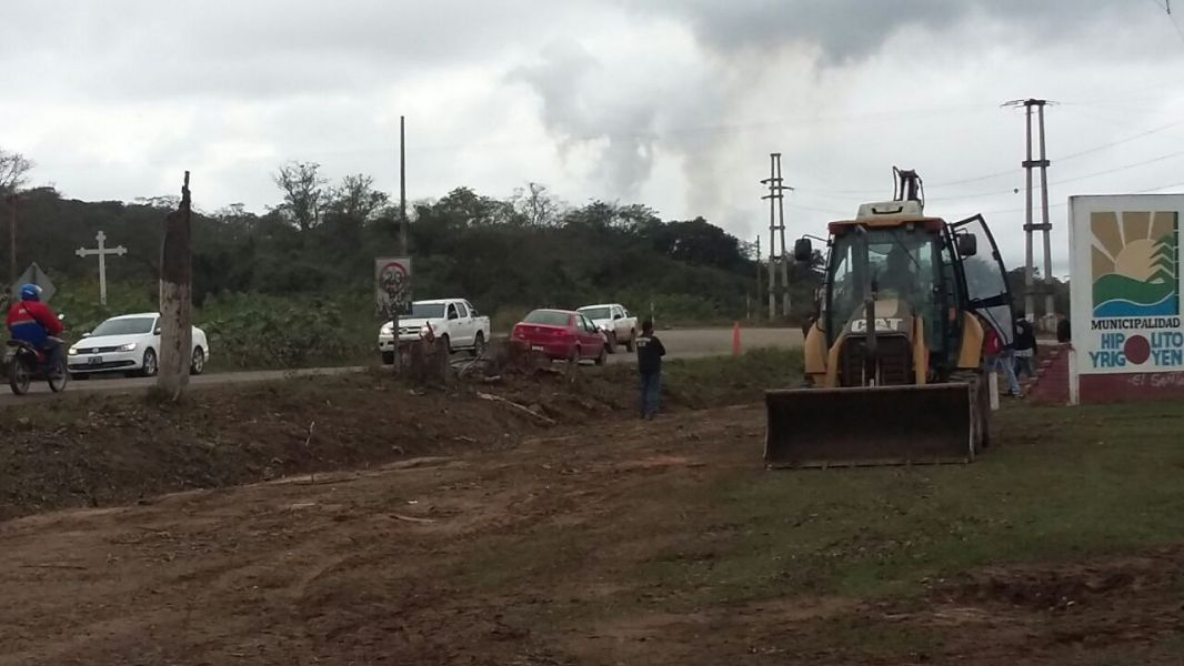 La obra de la autopista Orán-Pichanal, a la altura de Hipólito Yrigoyen.