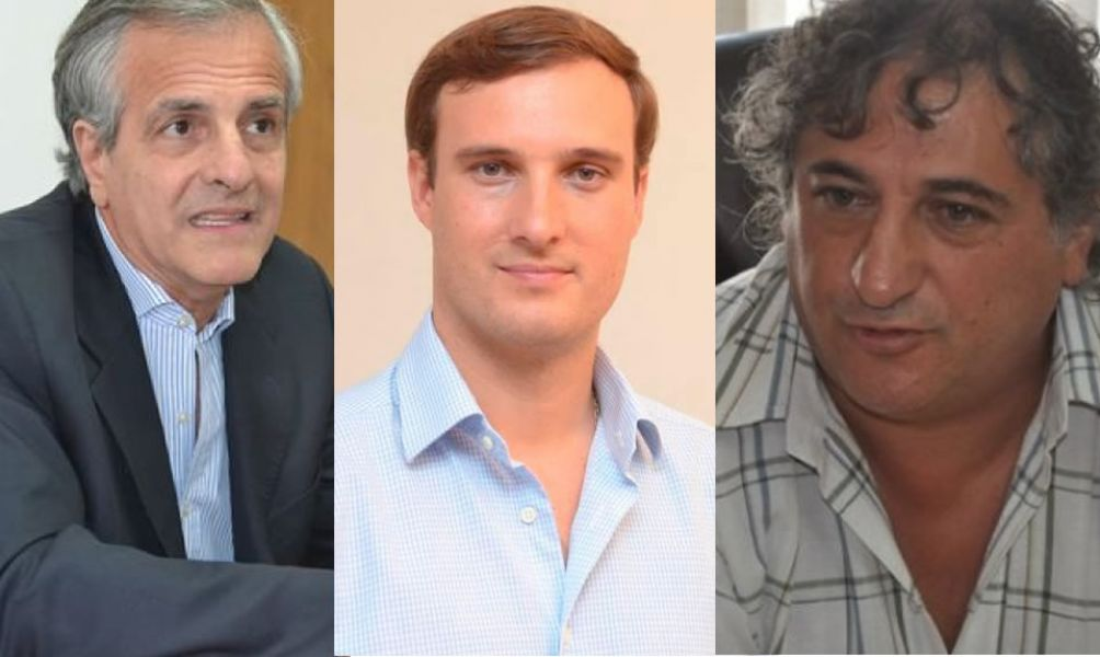 Guillermo Durand Cornejo, Guillermo López Mirau y Jorge Guaymás, precandidados de las elecciones primarias.