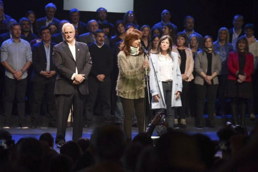 La ex presidenta Cristina de Kirchner y precandidata a senadora nacional por Unidad Ciudadana.