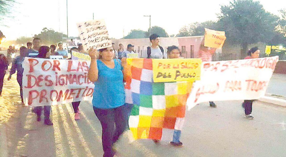 La comunidad de Morillo salió a apoyar el reclamo de los trabajadores del Hospital