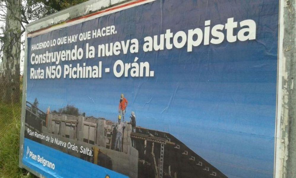 El Gobierno nacional cambió el nombre de la autopista Pichanal por Pichanal y prevé la expulsión de cinco familias para continuar con la obra.