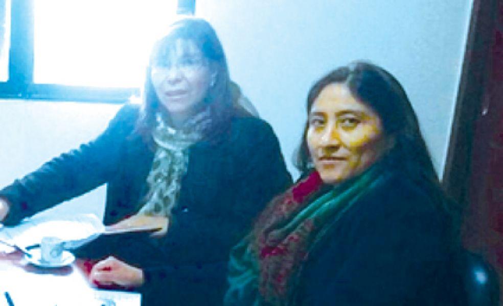 Ana Guerra y Berta Gerónimo, senadoras provinciales de la UCR.