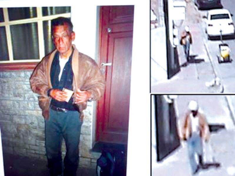 Las cámaras de seguridad registraron al sospechoso del robo y muerte de una septuagenaria.