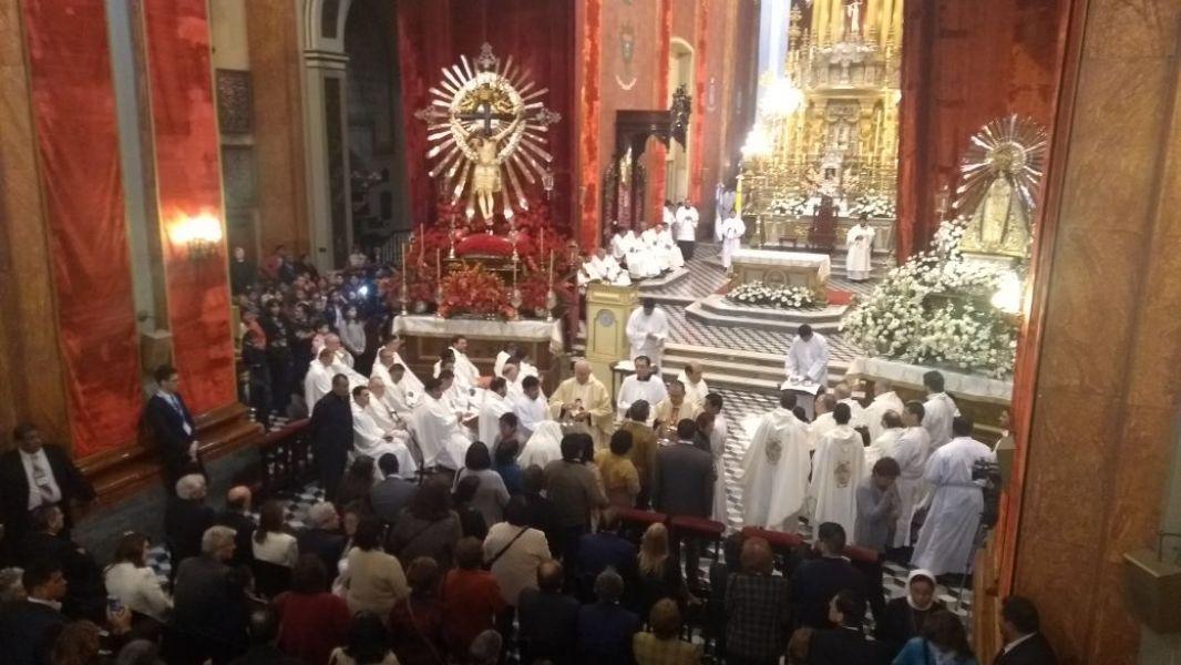 La primera misa estacional del Triduo contó con la participación de funcionarios y peregrinos