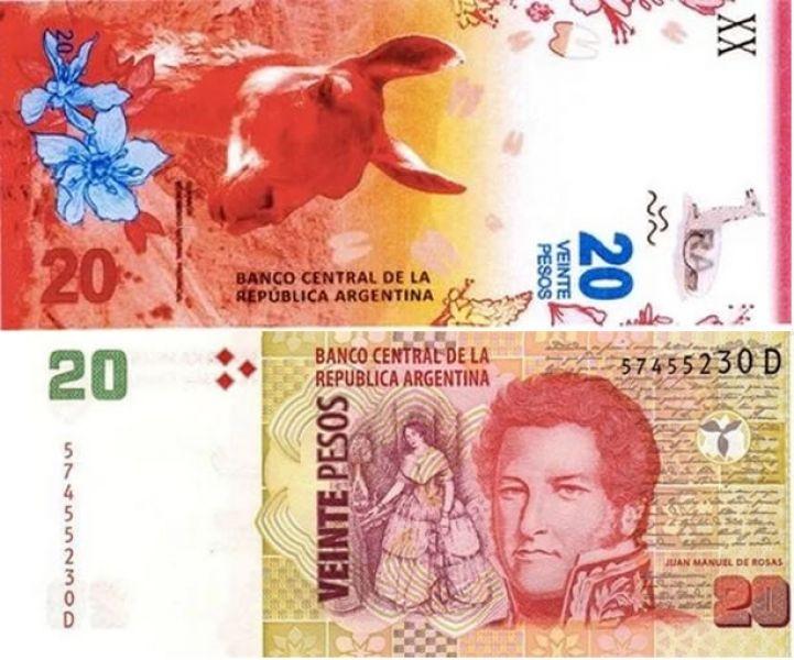 El guanaco ilustra los nuevos billetes de $20 y reemplazará a Juan Manuel de Rosas.