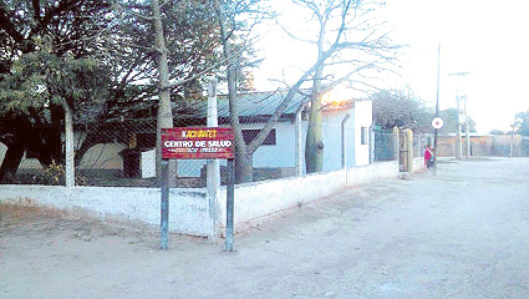 Centro de Salud de Misión Chaqueña, cuyo médico a cargo es Rodolfo Franco.