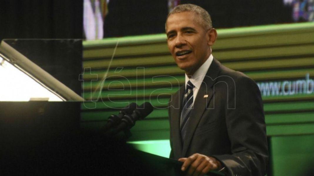 Barack Obama disertó ayer en la ciudad de Córdoba y hoy en Buenos Aires hablará ante empresarios.