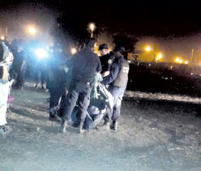 Una escena del operativo policial.