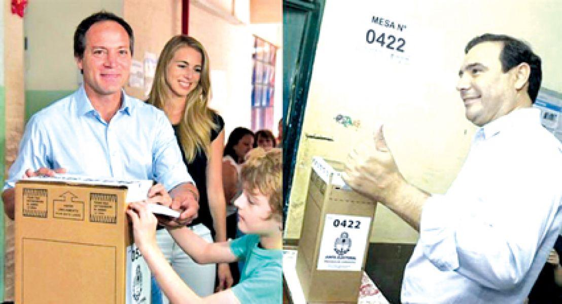 """Carlos """"Camau"""" Espínola y Gustavo Valdez candidatos a gobernador por Corrientes."""