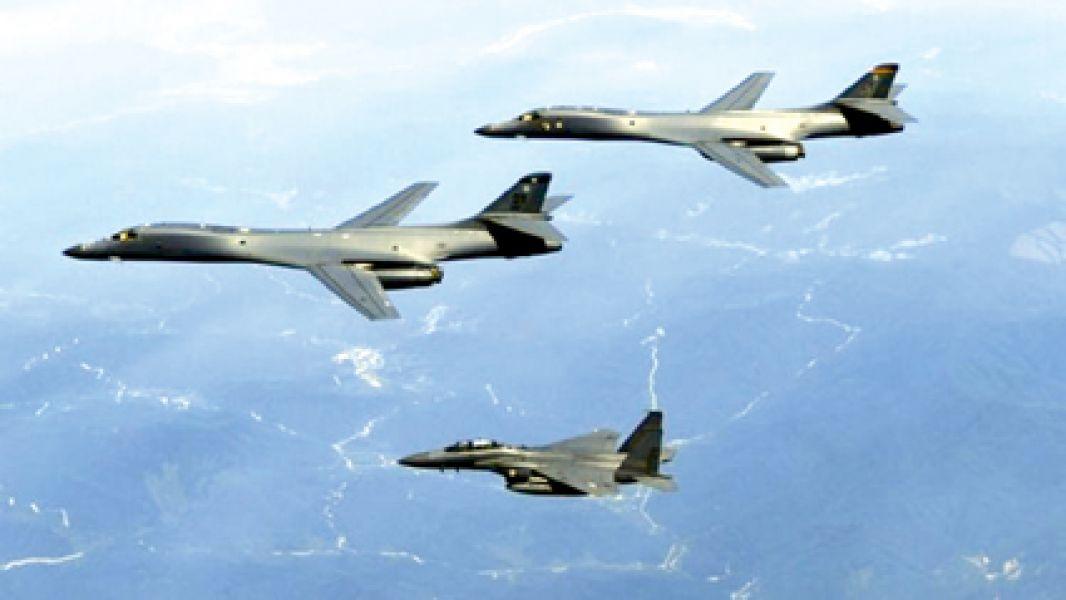 Los aviones estadounidenses sobrevolaron el cielo de la península coreana.