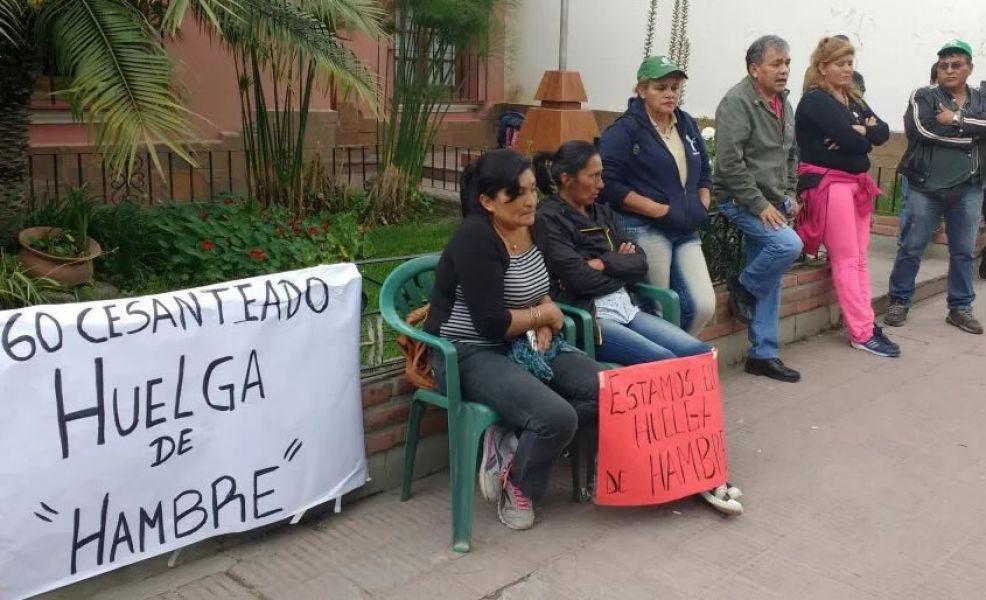 Algunas de las mujeres municipales que están en huelga de hambre en Rosario de Lerma a la espera de que las reincorporen.