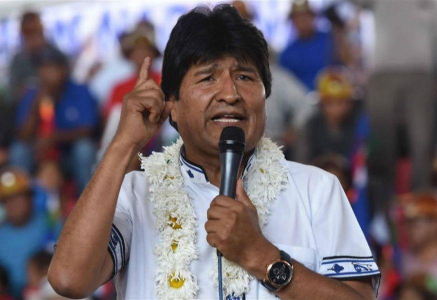 """""""Estamos habilitados para que el pueblo defina darnos su apoyo para una nueva gestión. La Revolución Democrática y Cultural sigue"""", dijo Evo Morales."""