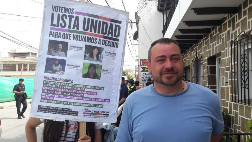 """Sebastián Aguirre, candidato de Unidad Multicolor, La agrupación calificó de """"insólito"""" al fallo y convocan hoy a una conferencia de prensa."""
