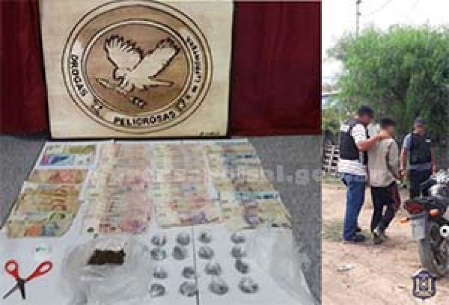 Se secuestraron droga y elementos robados en Rosario de la Frontera.