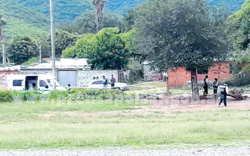 Sitio donde ocurrió  la agresión que derivó en la muerte de un hombre cerca de Floresta.