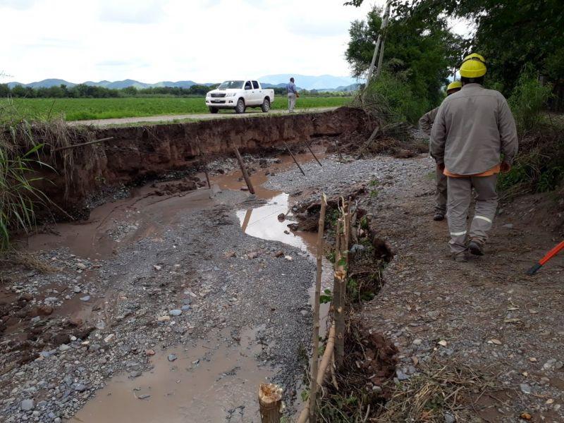 Las inundaciones causaron desastres en La Merced.