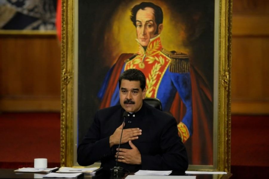 El presidente de Venezuela Nicolás Maduro avanza en busca de la reelección.