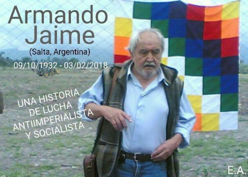 El ahora fallecido Armando Jaime, en la década del '70 contribuyó el triunfo del gobernador Miguel Ragone.
