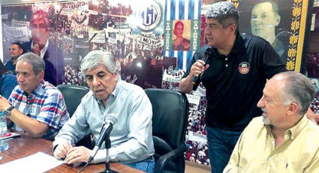 Hugo y Pablo Moyano acordaron con Sergio Palazzo y Hugo Yasky adelantar la fecha de la movilización.