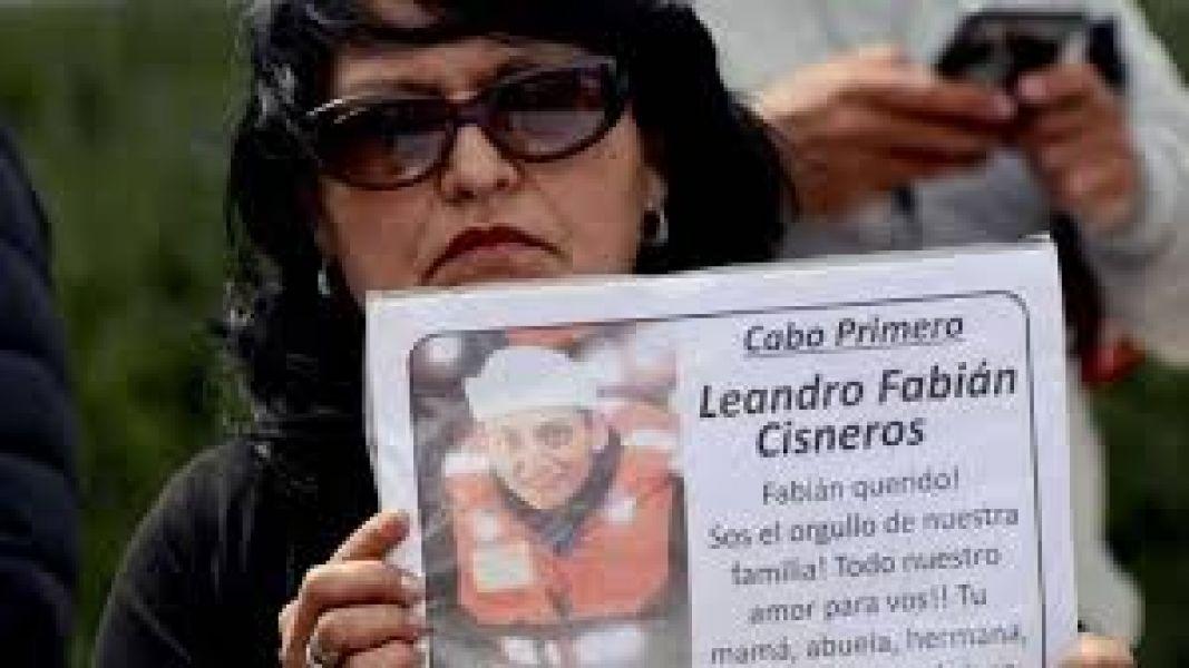 Yolanda Mendiola, madre de uno de los submarinistas desaparecidos.