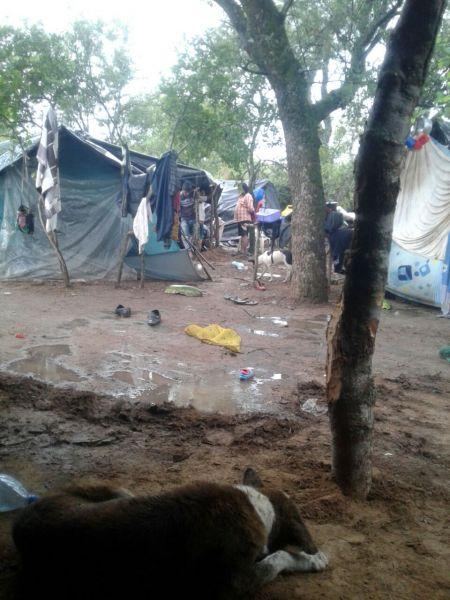La comunidad de el campamento de La Curvita, uno de los parajes de SVE más afectados por los desbordes del Pilcomayo.