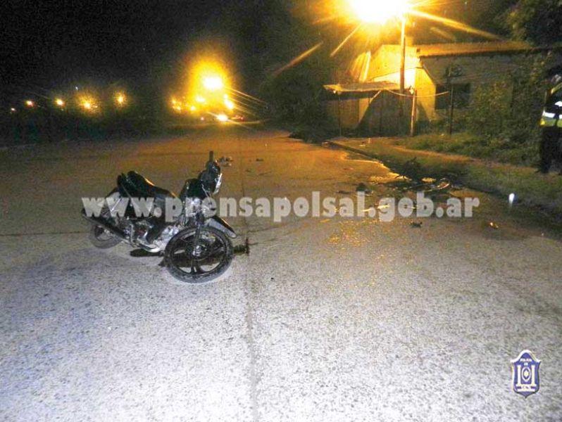 En el choque de motos en Pichanal una de ellas se incendio y por las graves quemaduras murió ayer un adolescente.
