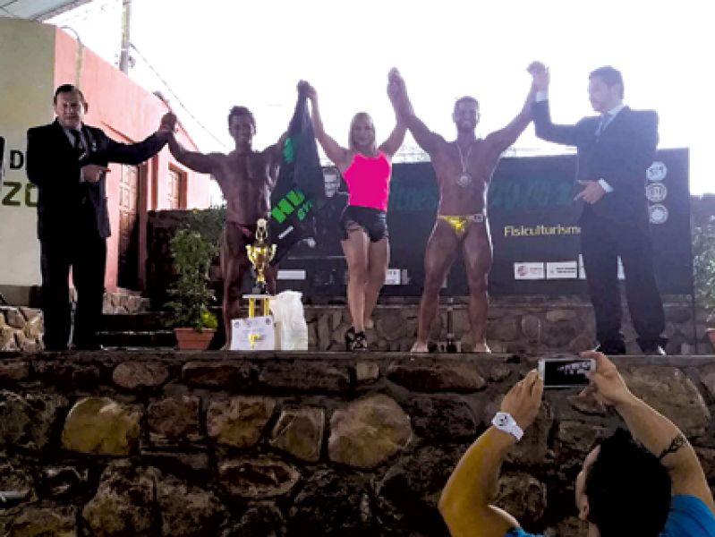 """Alderete, en el podio Overall de Culturismo el fin de semana en """"Sanlo""""."""